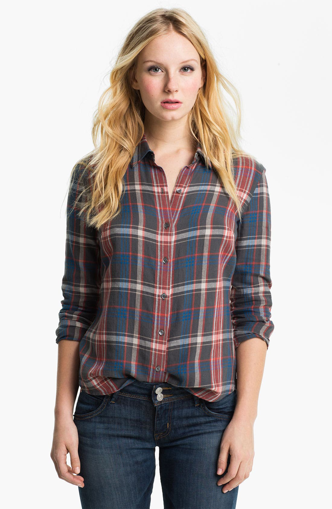 Alternate Image 1 Selected - James Perse 'Harbor' Plaid Shirt