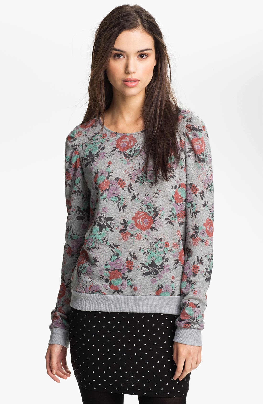 Alternate Image 1 Selected - Ten Sixty Sherman Puff Sleeve Sweatshirt (Juniors)