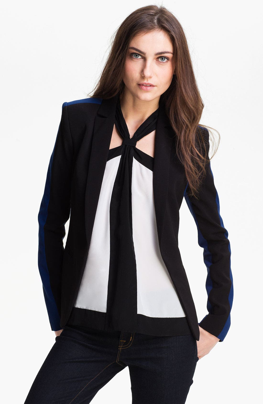 Alternate Image 1 Selected - BCBGMAXAZRIA Woven Jacket