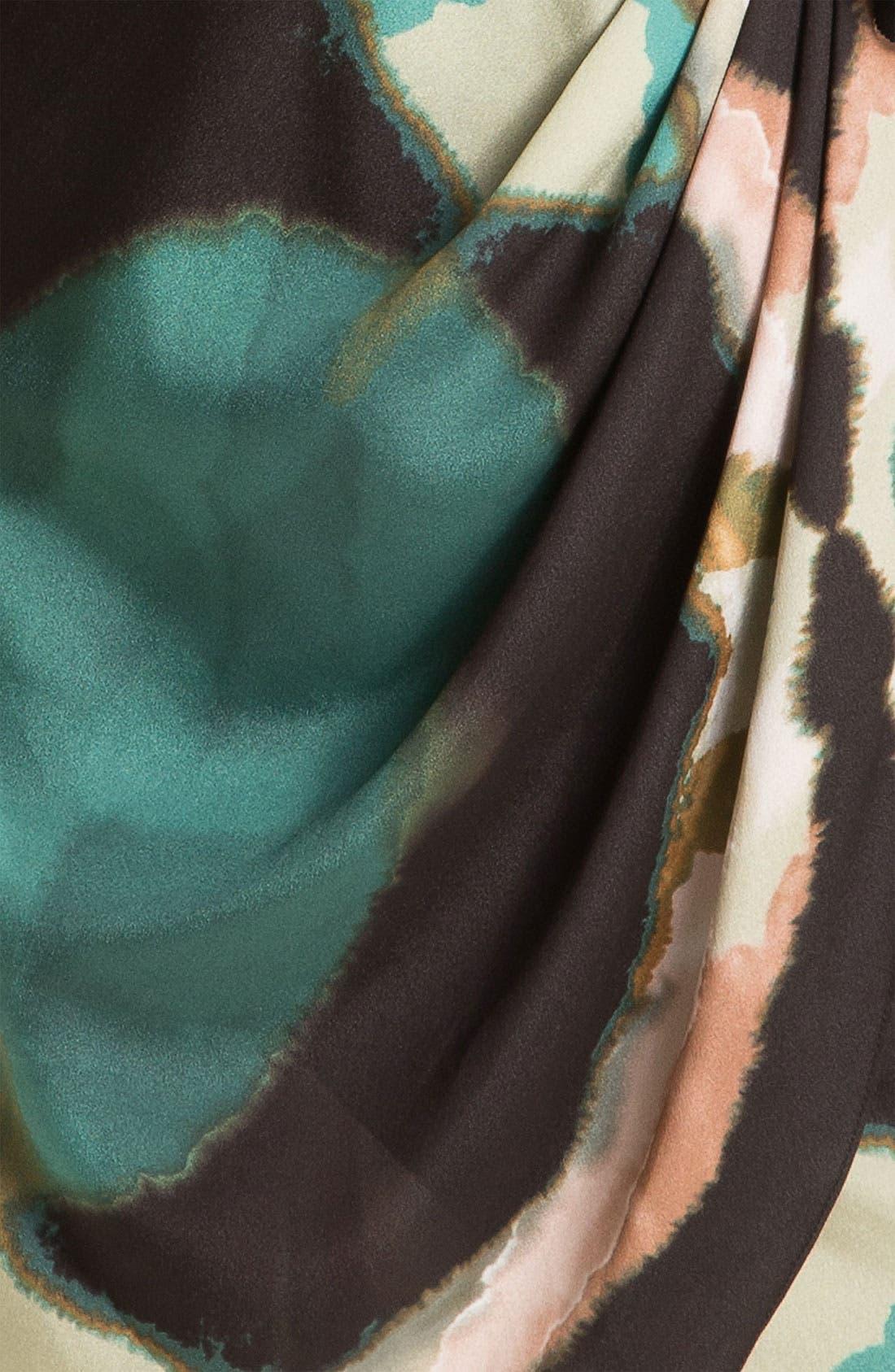 Alternate Image 3  - Maggy London Pleat Front Crêpe de Chine Faux Wrap Dress (Petite)