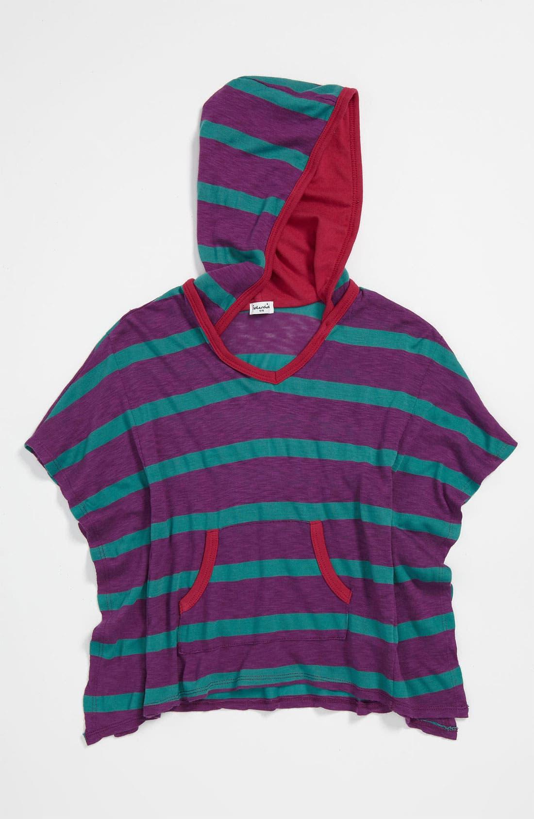 Alternate Image 1 Selected - Splendid 'Seville Stripe' Poncho Hoodie (Little Girls)