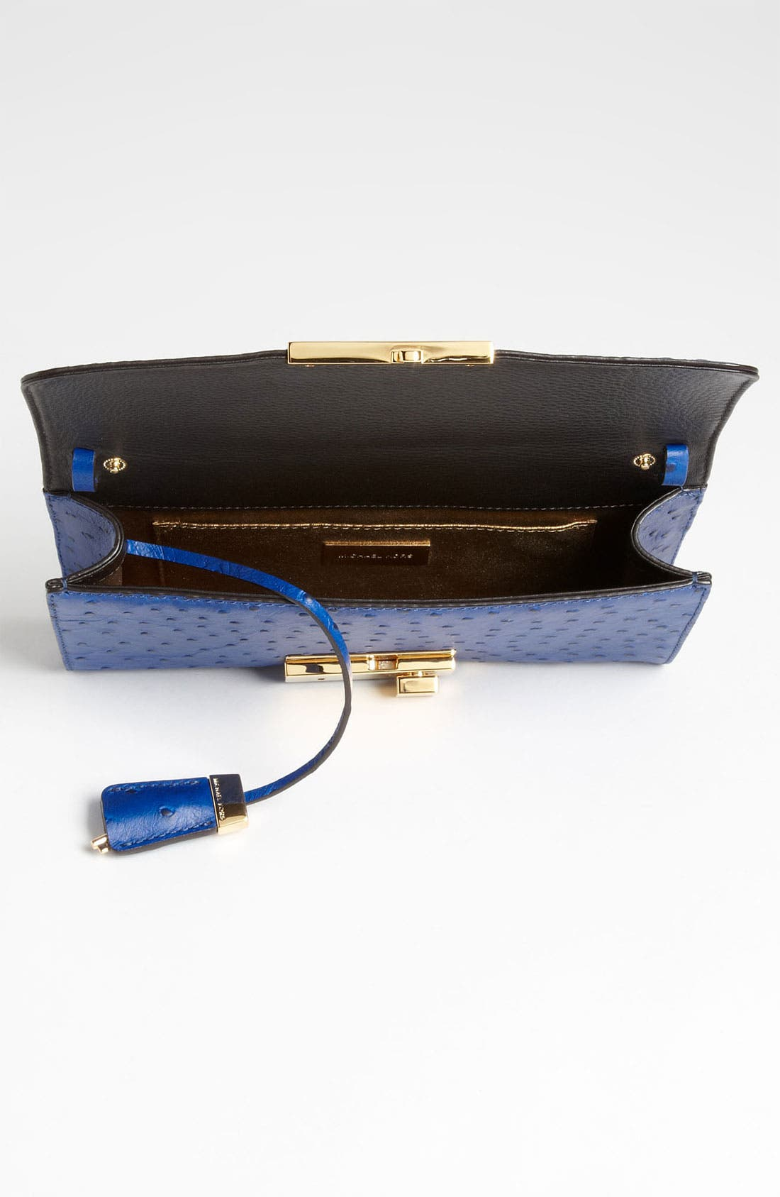 Alternate Image 3  - Michael Kors 'Gia' Ostrich Embossed Clutch
