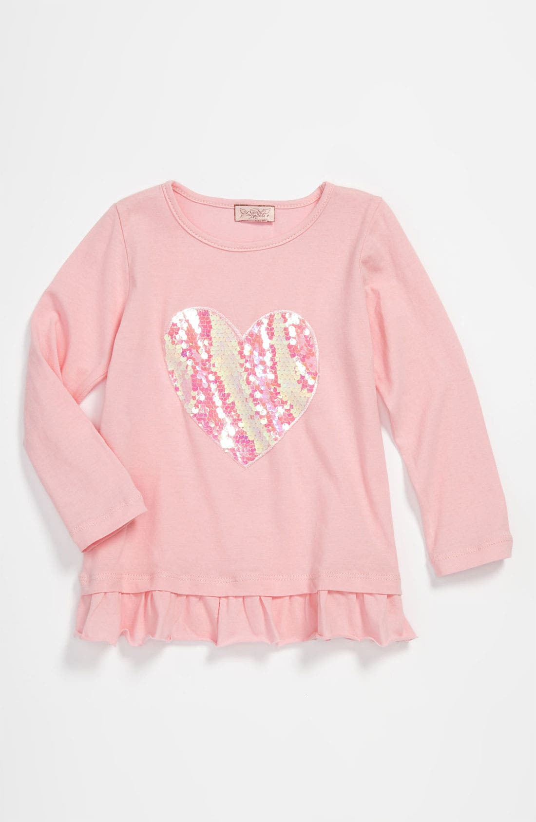 Main Image - Spoiled Angels Paillette Heart Top (Toddler)
