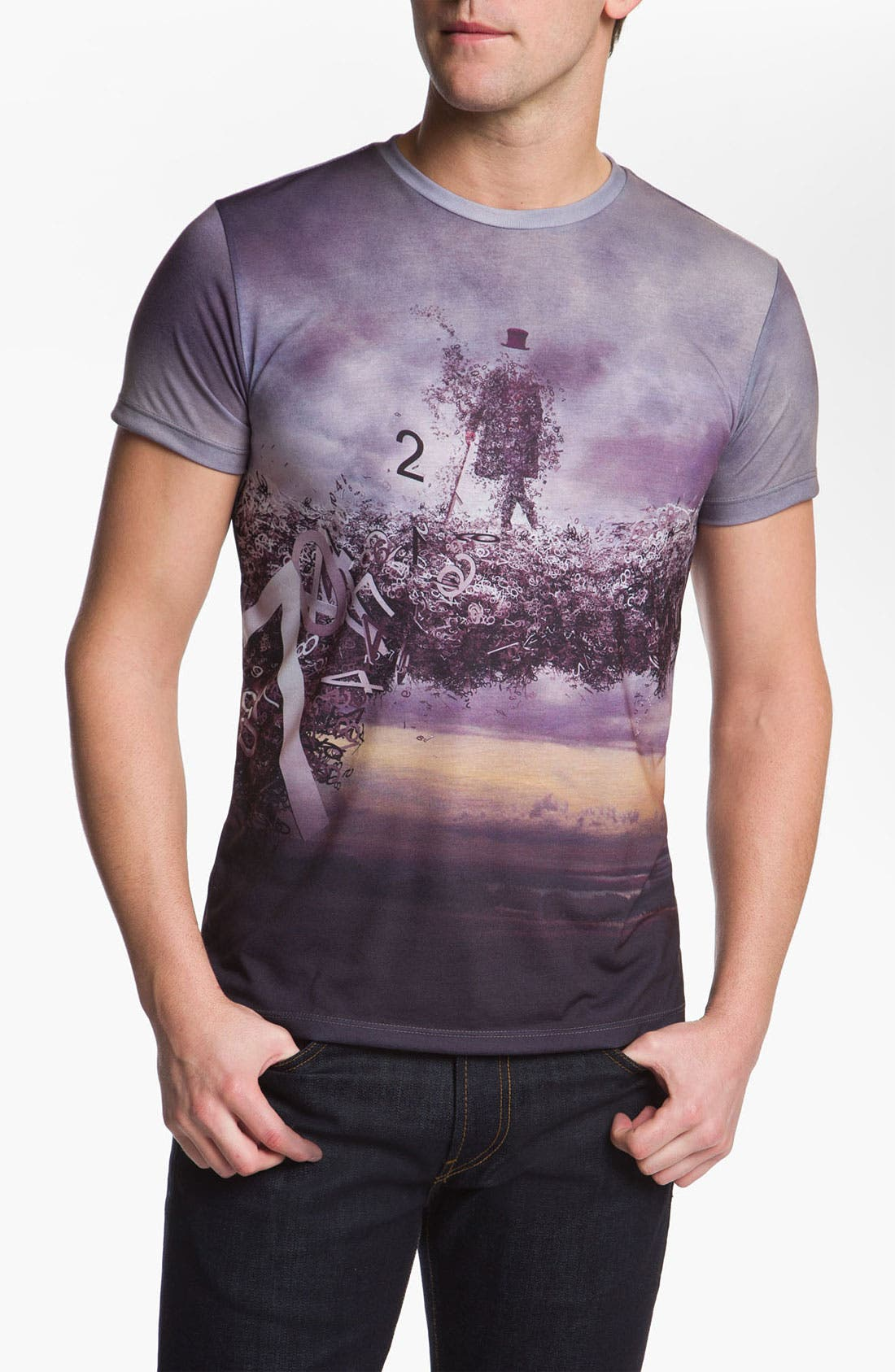 Alternate Image 1 Selected - Imaginary Foundation 'Numeral' Allover Graphic T-Shirt