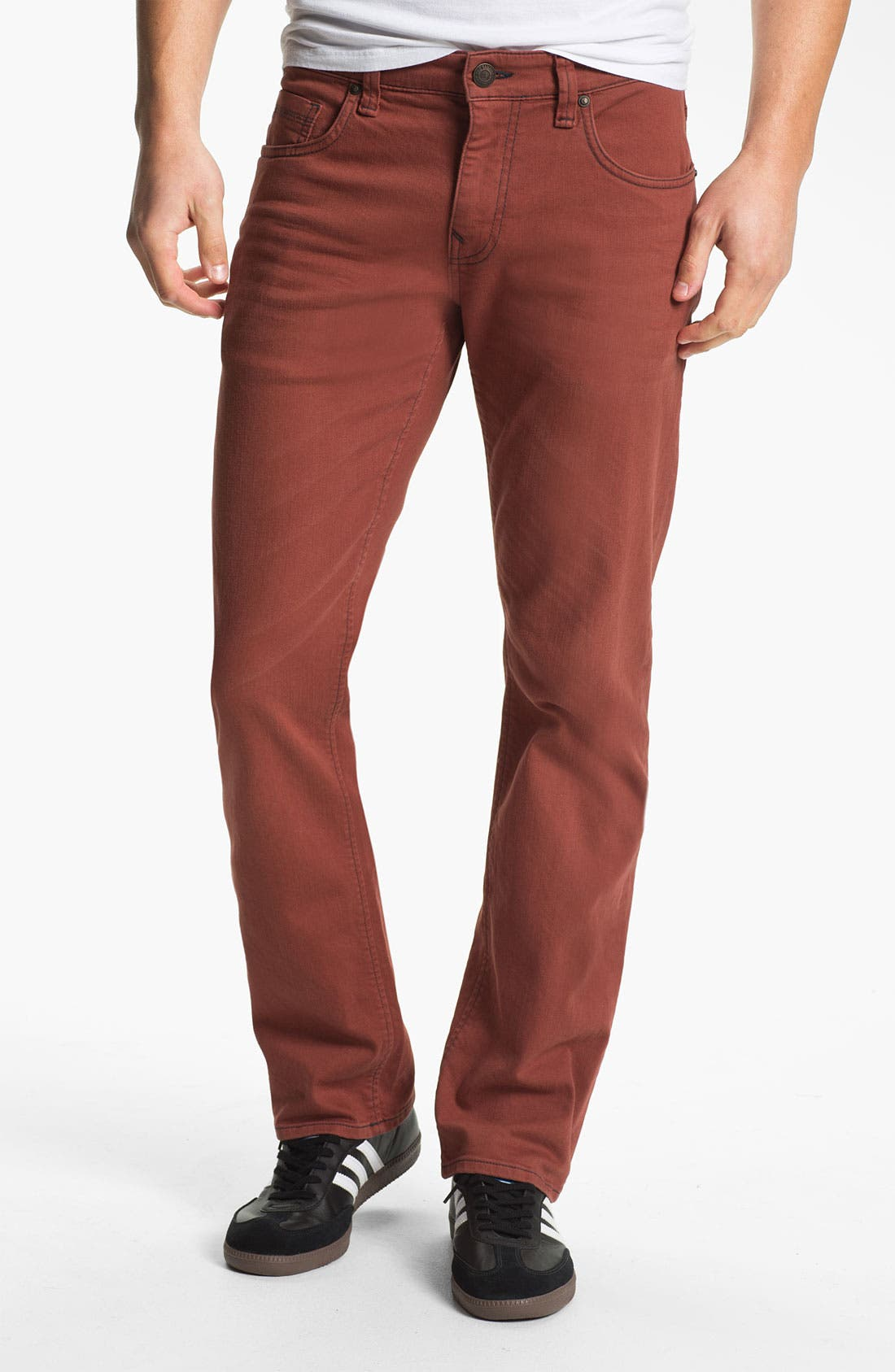 Alternate Image 2  - Mavi Jeans Slim Straight Leg Jeans (Rust)
