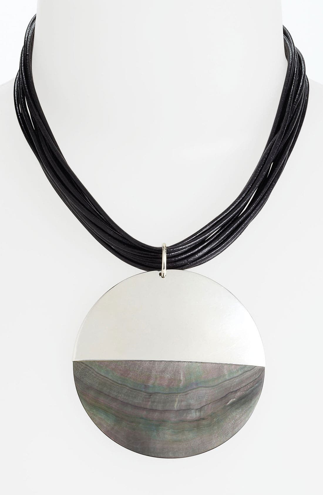 Alternate Image 1 Selected - Simon Sebbag 'Tahiti' Leather Pendant Necklace