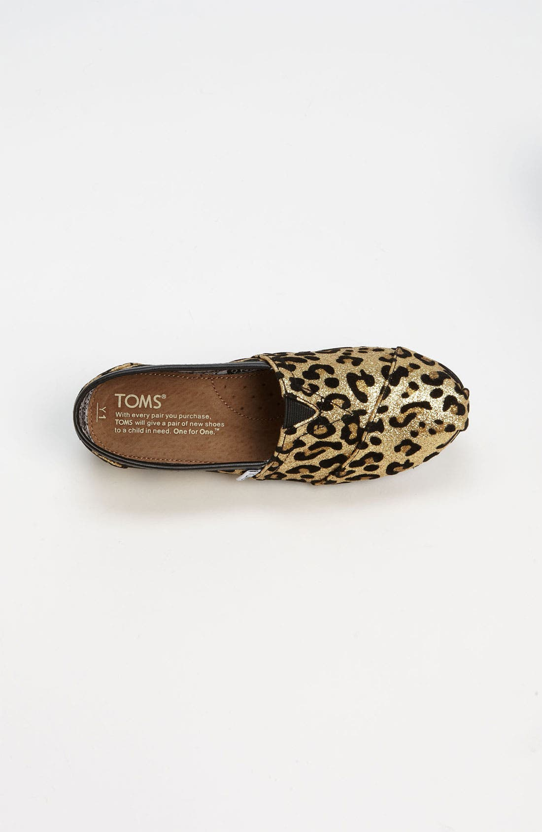 Alternate Image 3  - TOMS 'Classic Youth - Glitter' Print Slip-On (Toddler, Little Kid & Big Kid)(Nordstrom Exclusive)