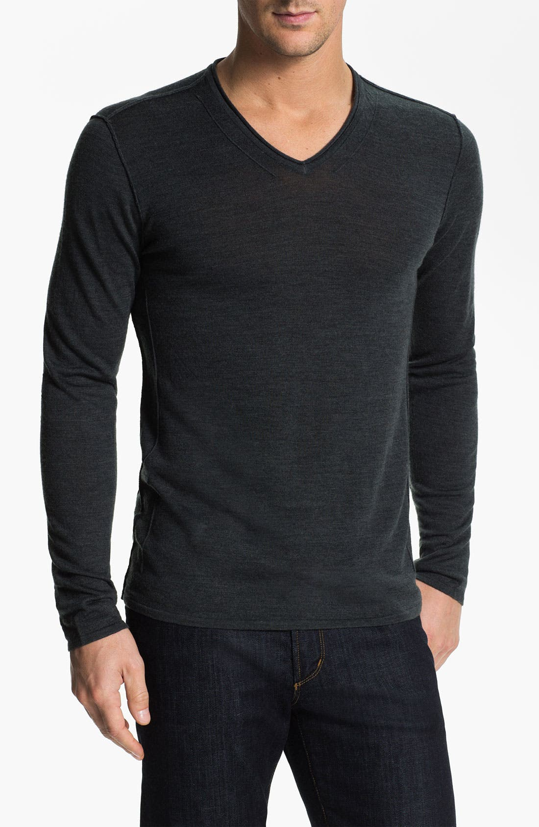 Main Image - John Varvatos Star USA Merino Wool Blend V-Neck Sweater