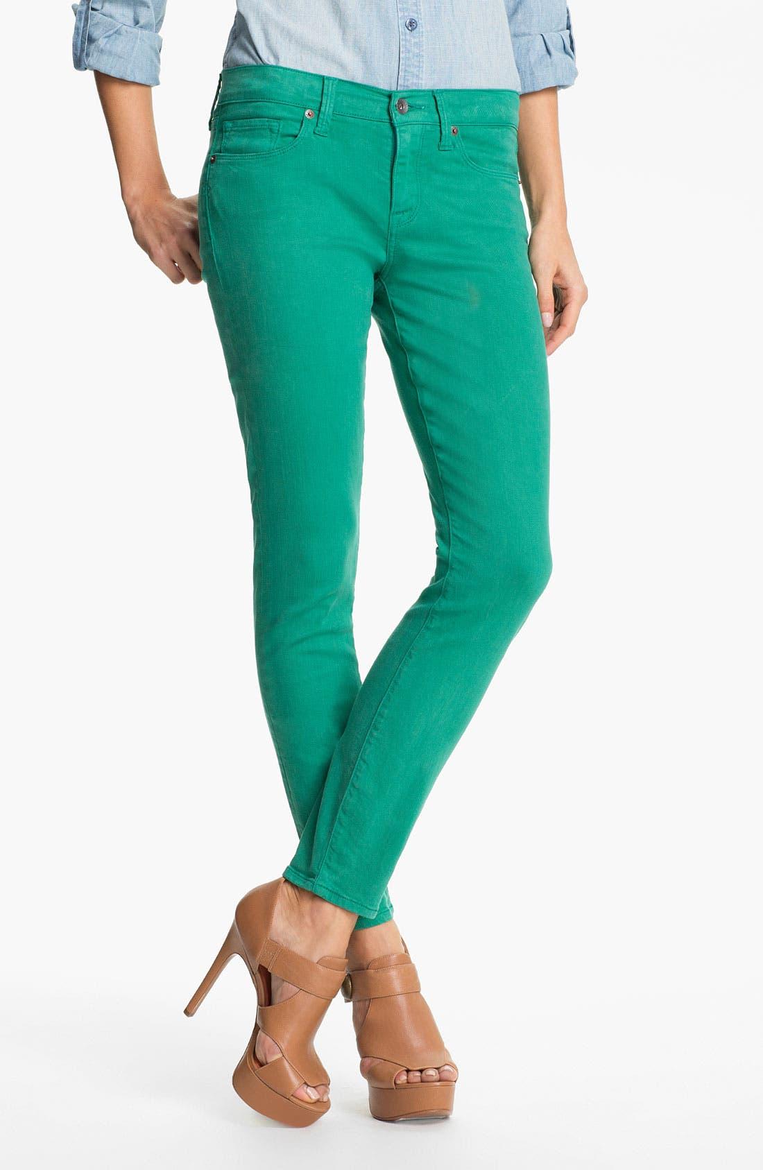 Main Image - Lucky Brand 'Sofia' Colored Denim Skinny Jeans