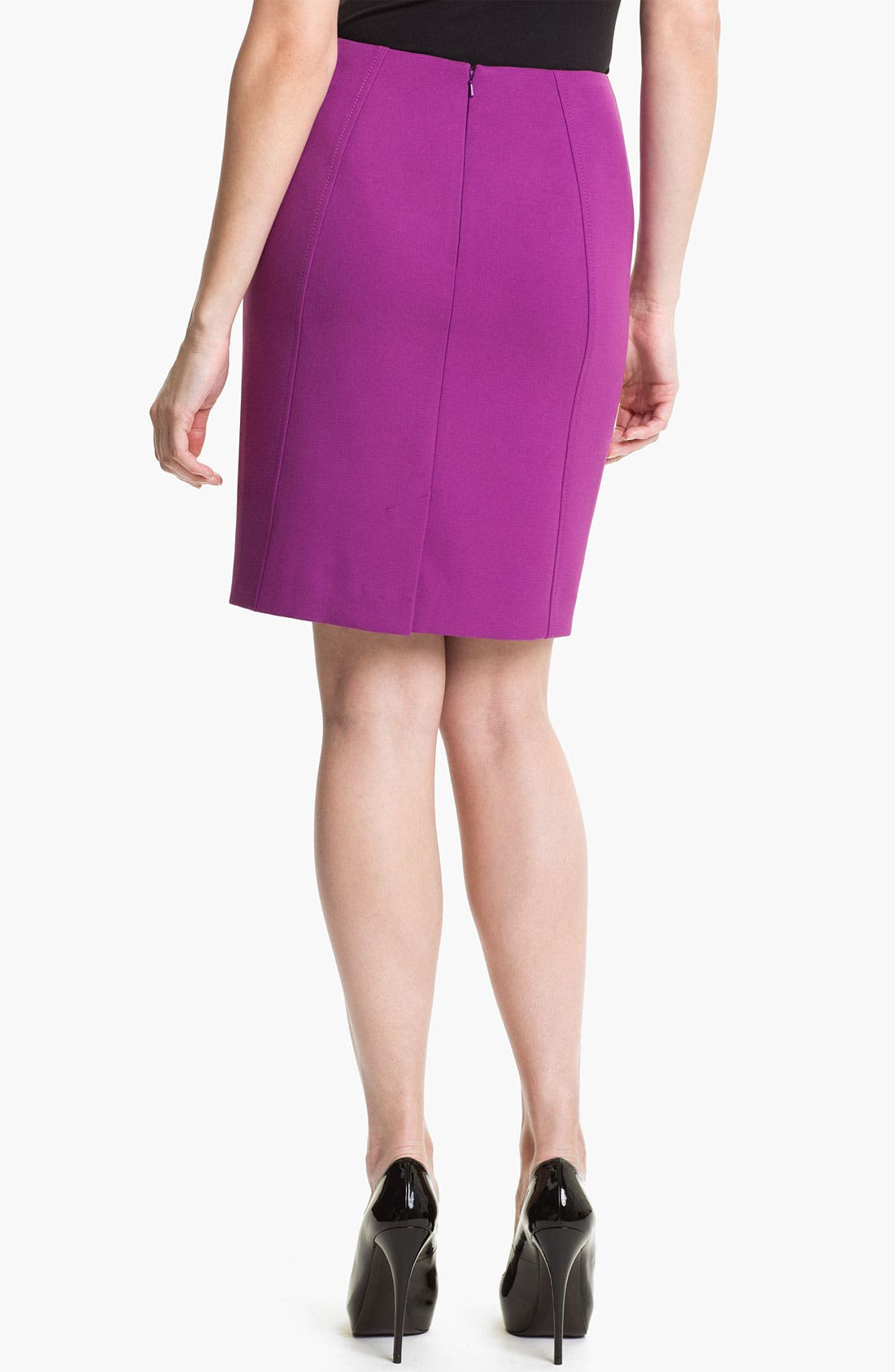 Alternate Image 2  - Halogen® Seamed Pencil Skirt (Petite)