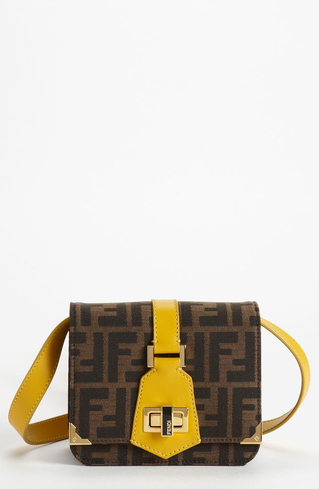 Main Image - Fendi 'Tevere Zucca - Mini' Crossbody Bag