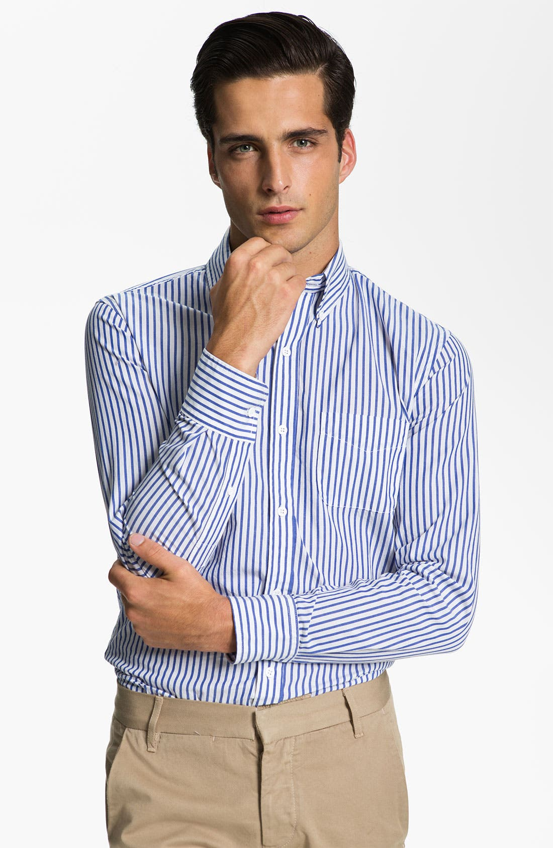 Alternate Image 1 Selected - Band of Outsiders Stripe Shirt