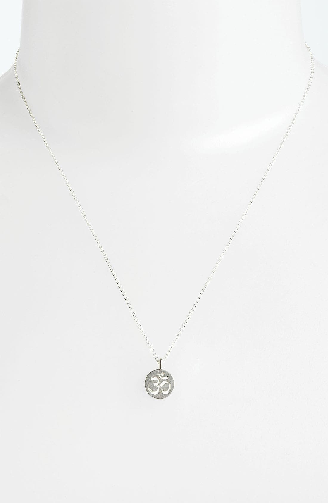 Alternate Image 2  - Dogeared 'Mind, Body & Spirit' Om Pendant Necklace