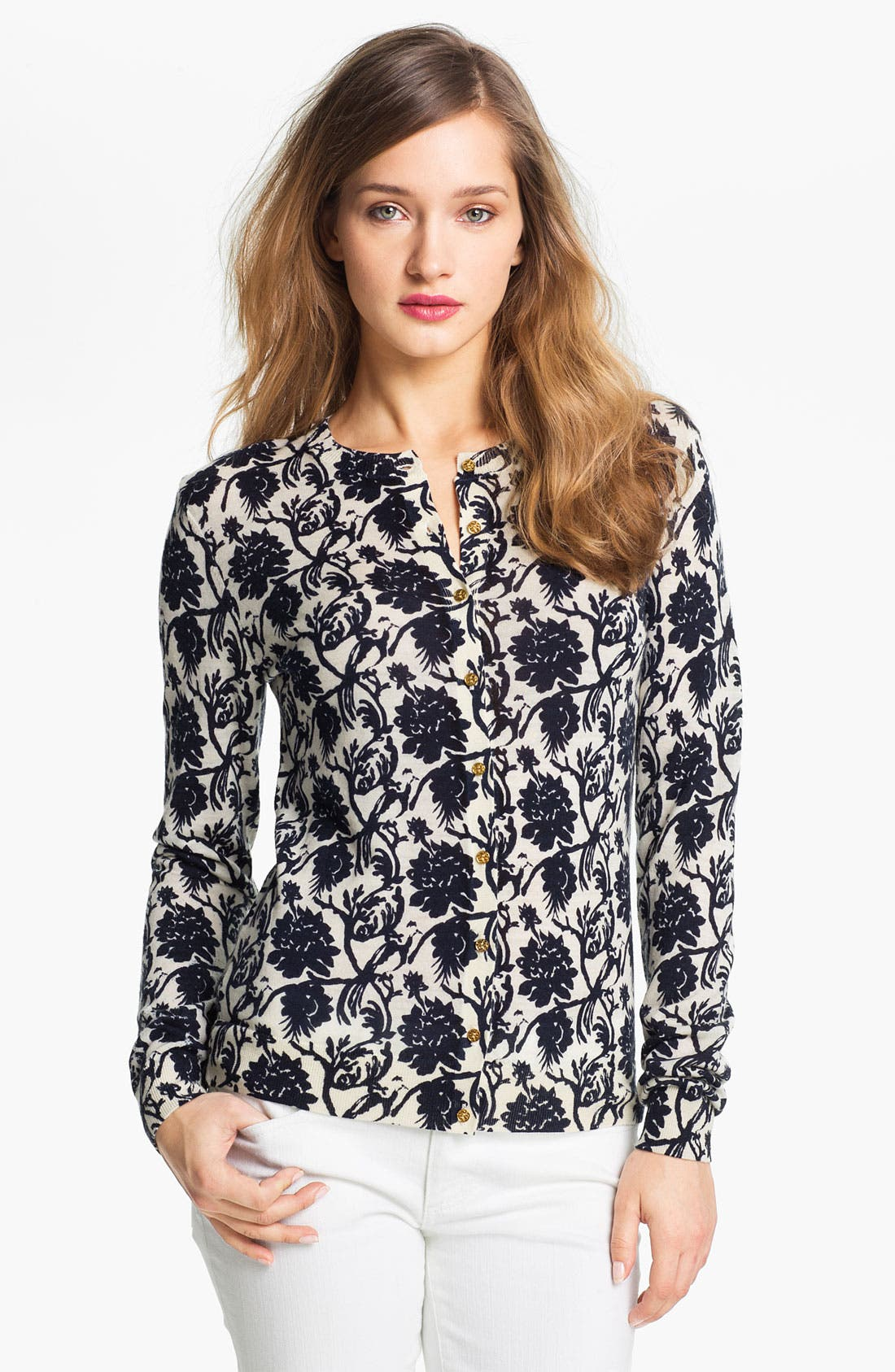 Alternate Image 1 Selected - Tory Burch 'Oleander' Cardigan