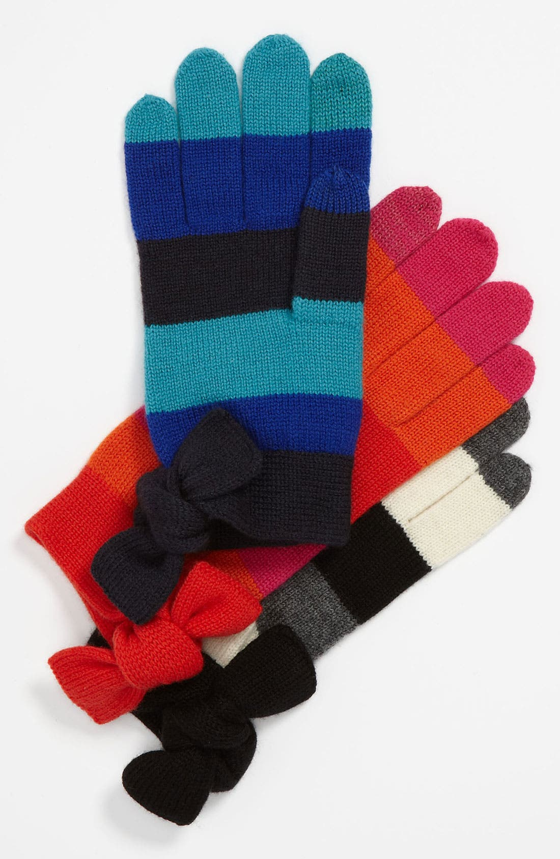 Alternate Image 1 Selected - kate spade new york bow tech gloves