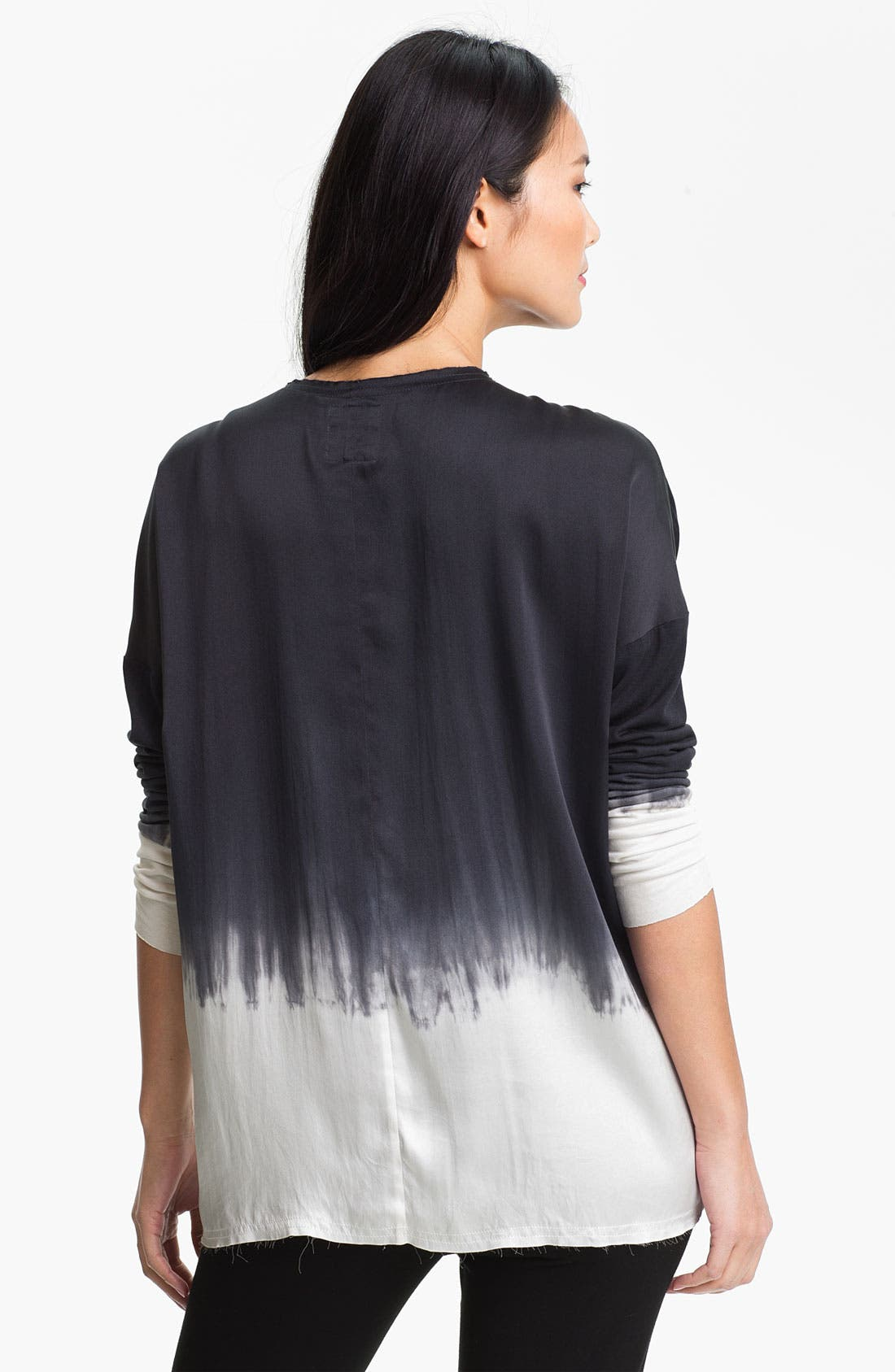 Alternate Image 2  - Go by Go Silk 'Go Luxe' Dip Dye Silk Henley Top (Online Exclusive)