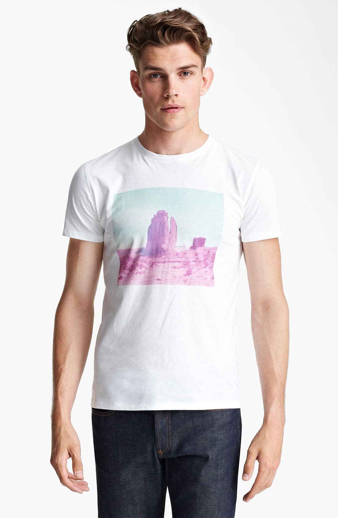Alternate Image 1 Selected - A.P.C. 'Rock Formation' Print T-Shirt