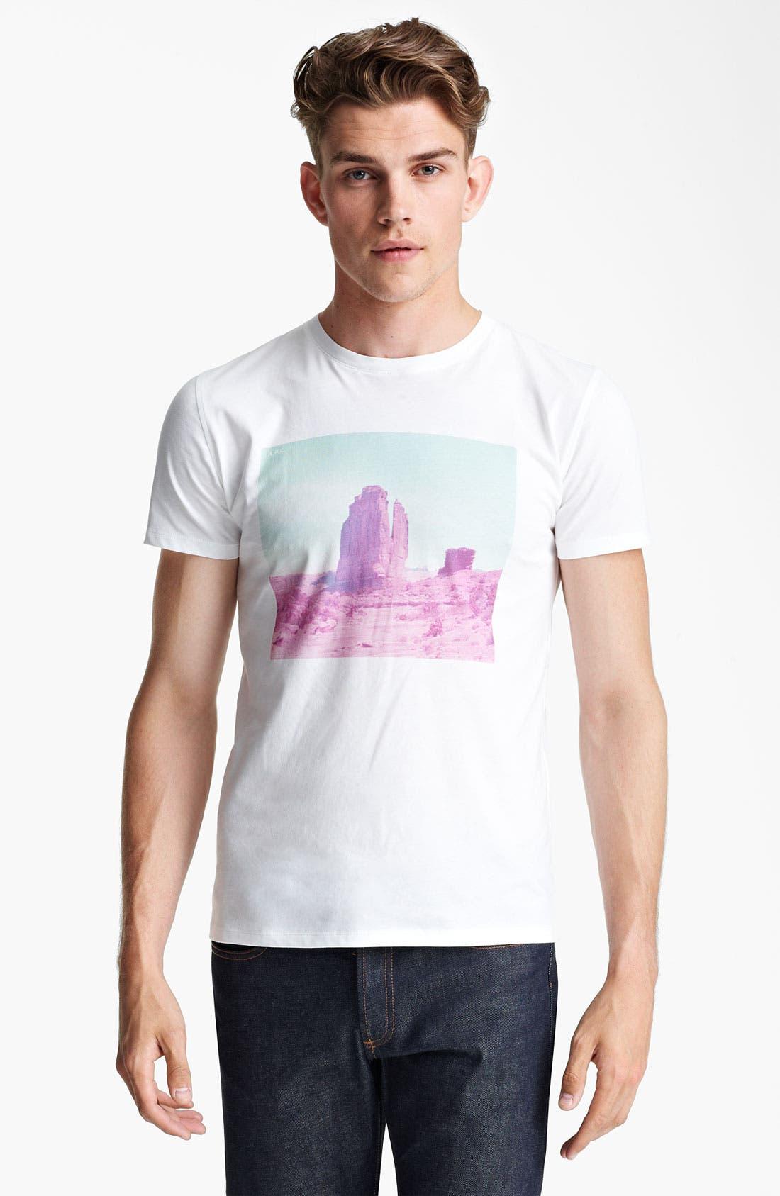 Main Image - A.P.C. 'Rock Formation' Print T-Shirt