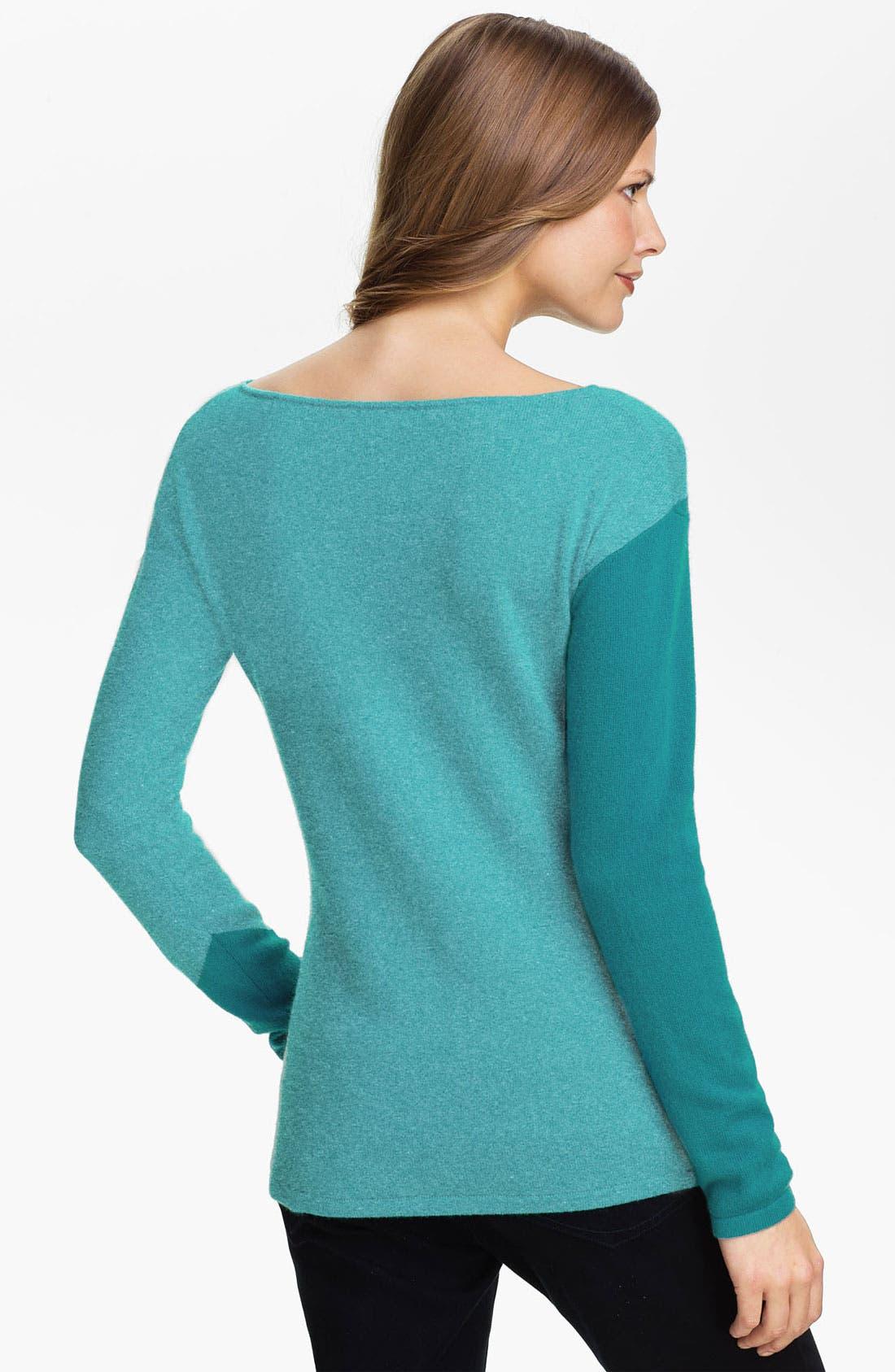 Alternate Image 2  - Lauren Hansen Colorblock Cashmere Sweater