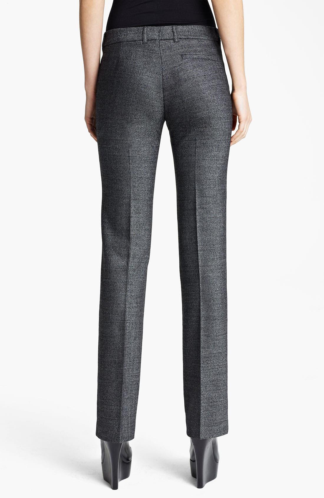 Alternate Image 2  - Burberry London Metallic Wool Pants