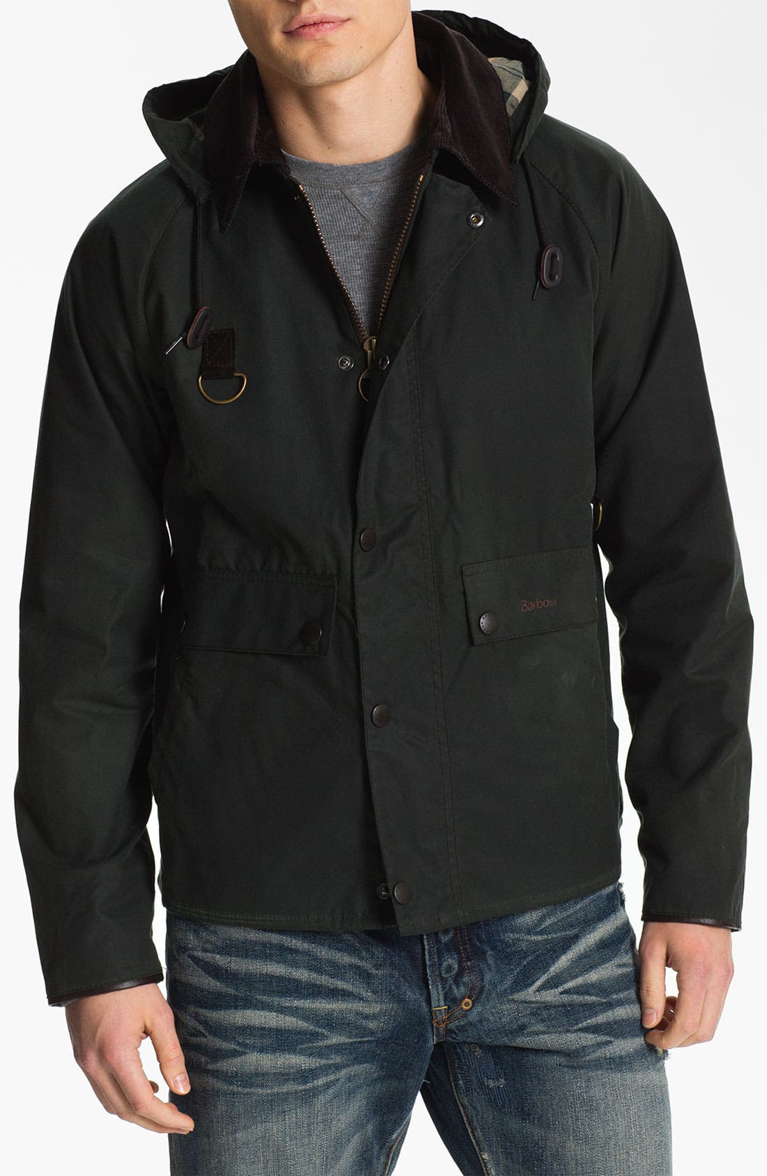 Alternate Image 1 Selected - Barbour 'Standen' Hooded Jacket