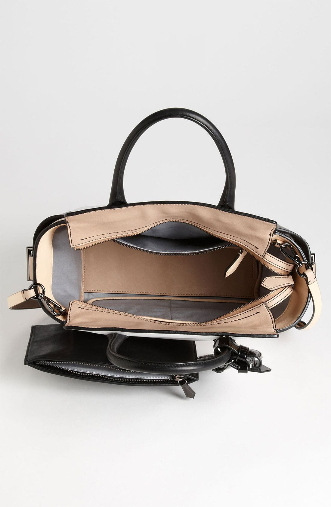 Alternate Image 3  - Reed Krakoff 'Atlantique - Mini' Colorblock Leather Satchel