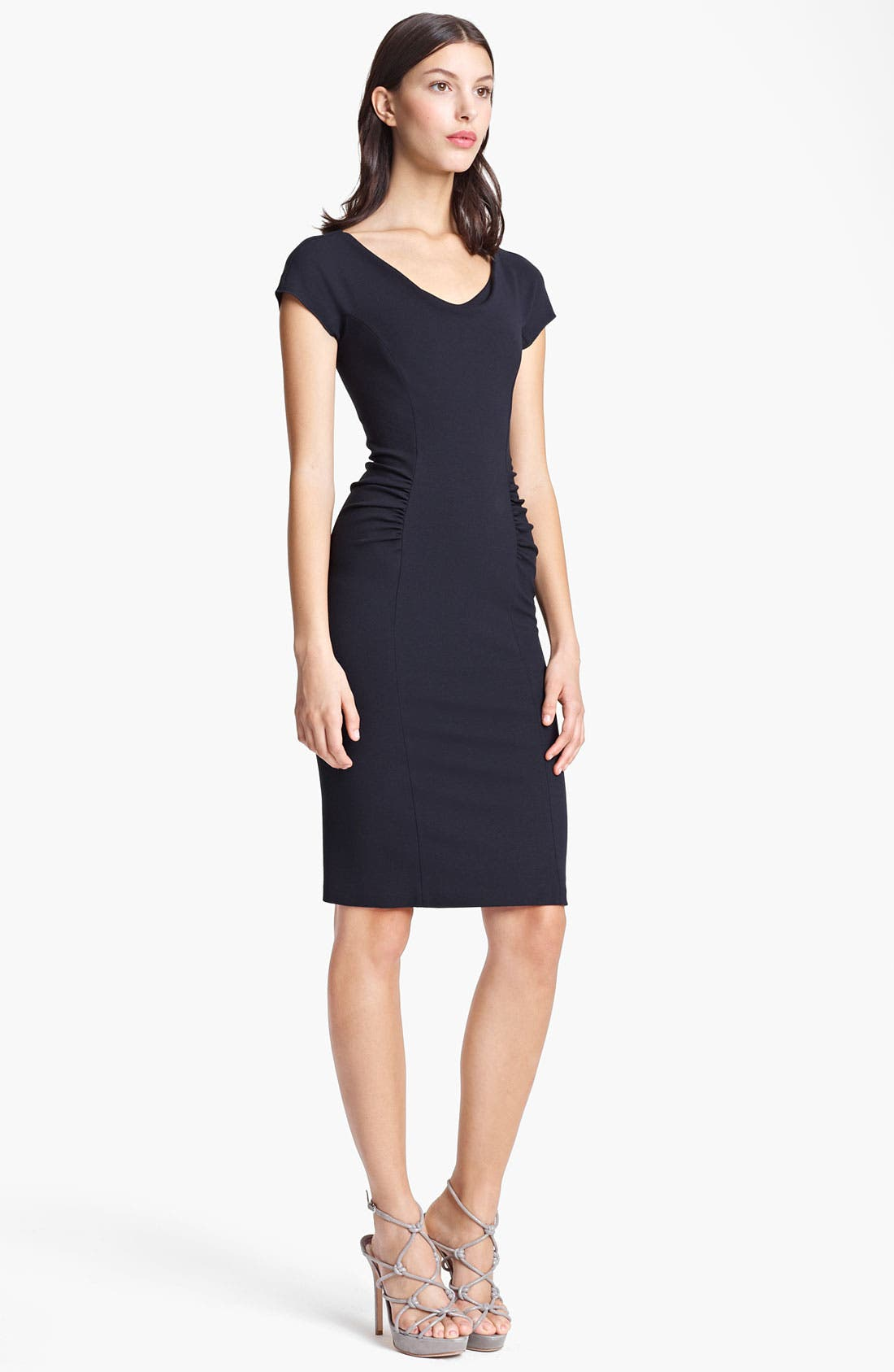 Alternate Image 1 Selected - Armani Collezioni Ruched Jersey Dress