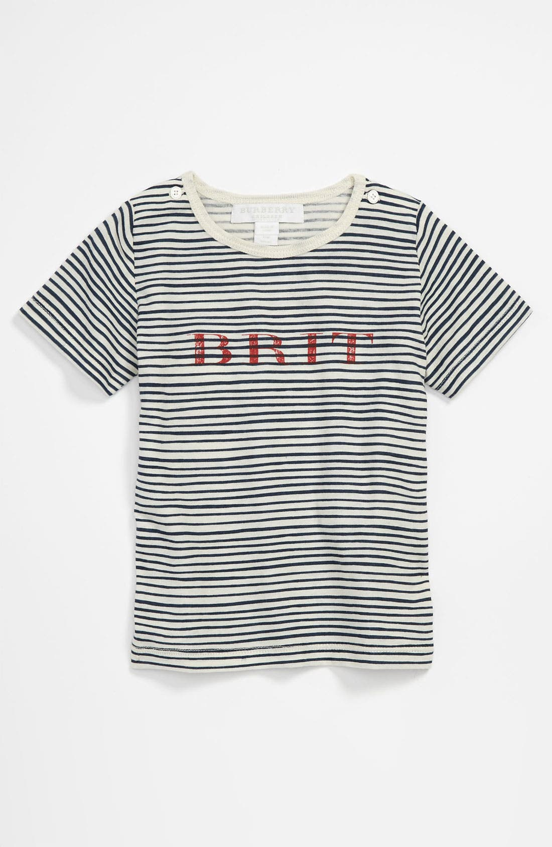 Alternate Image 1 Selected - Burberry 'Mini Treague' Stripe T-Shirt (Infant)