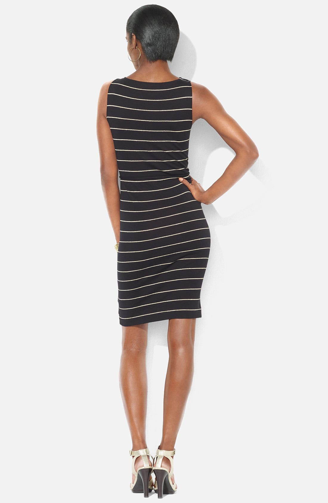 Alternate Image 2  - Lauren Ralph Lauren Bateau Neck Stripe Dress (Petite)