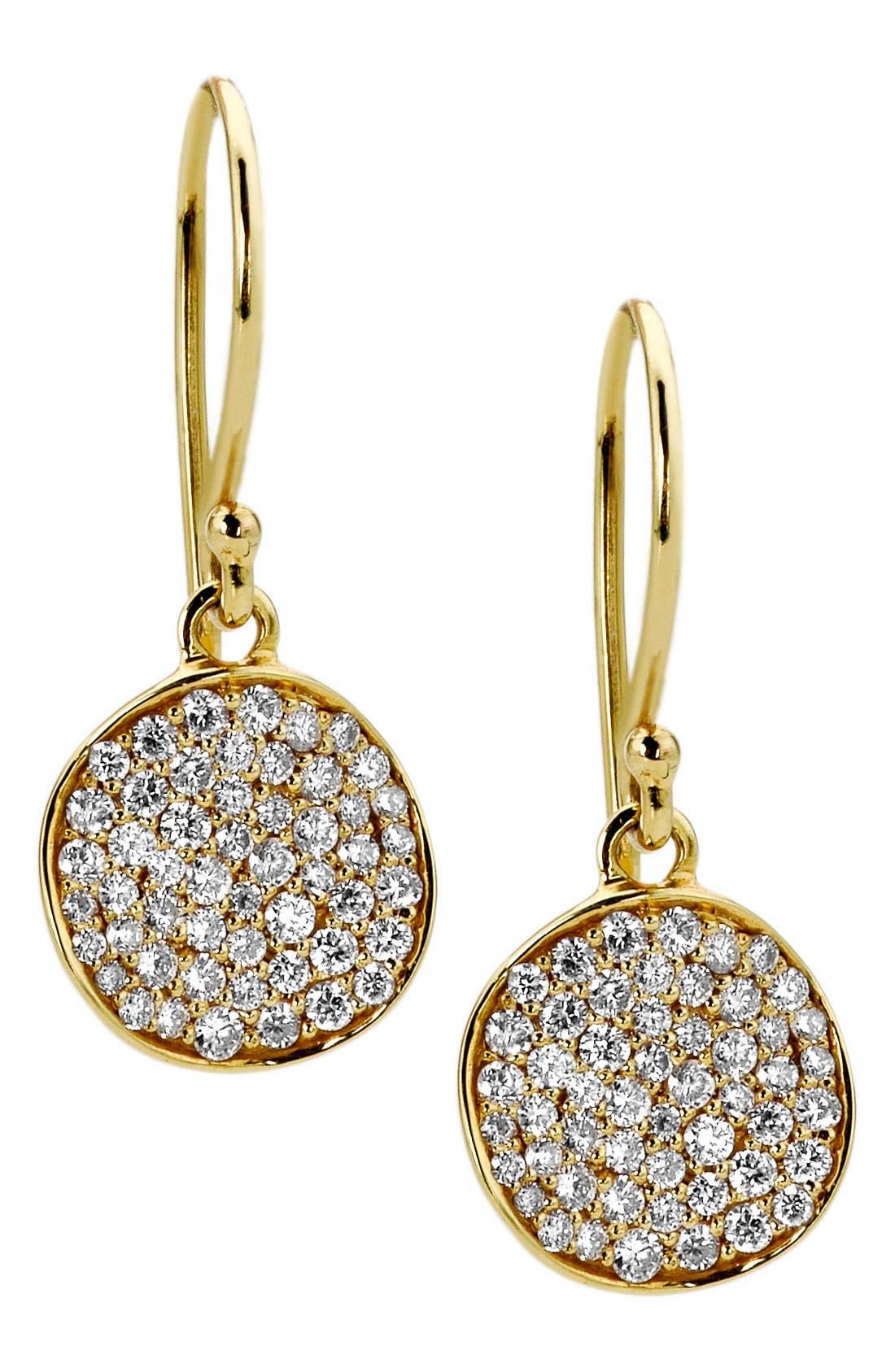 Alternate Image 1 Selected - Ippolita 'Stardust - Mini Flower' 18k Gold Drop Earrings