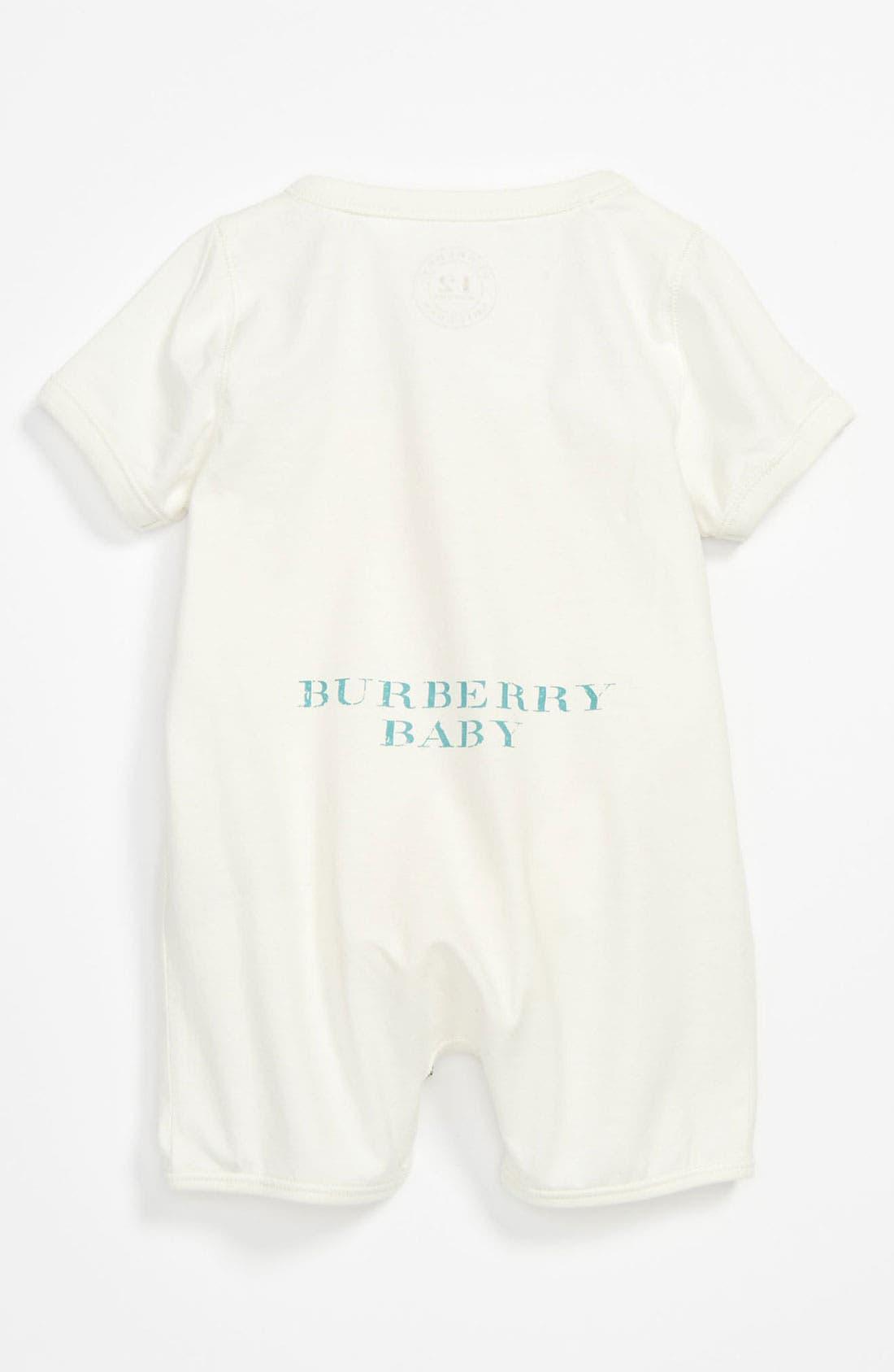 Alternate Image 2  - Burberry 'Eddie' Bodysuit (Baby)