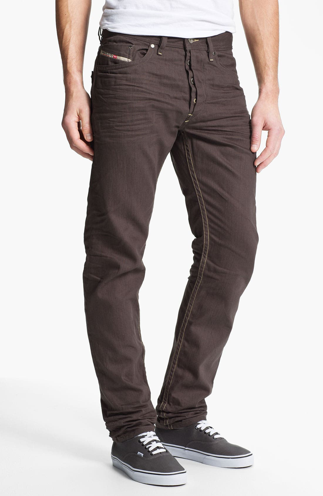 Alternate Image 2  - DIESEL® 'Braddom' Slim Tapered Leg Jeans (Deep Black)