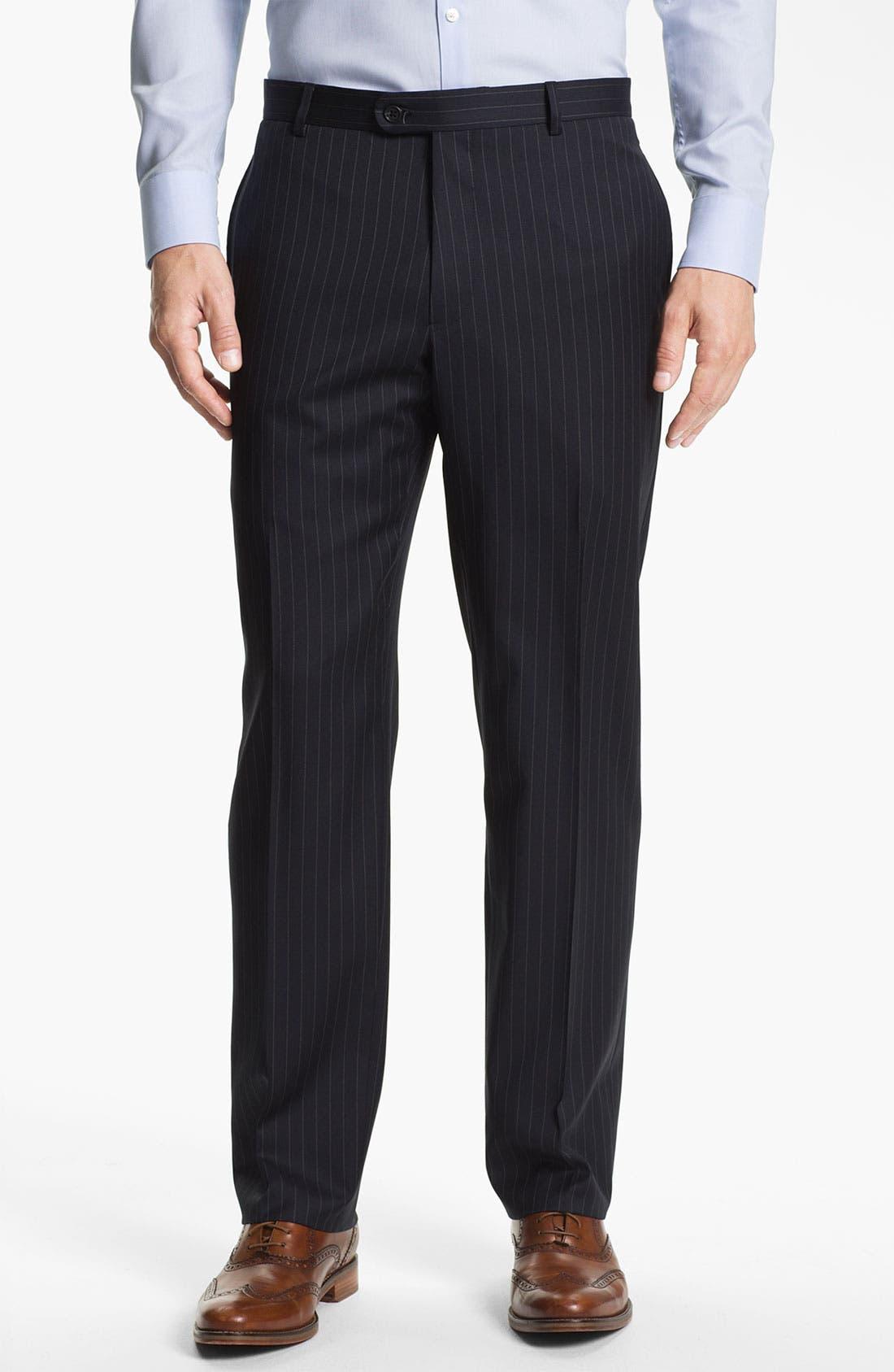 Alternate Image 4  - Joseph Abboud Trim Fit Peak Lapel Stripe Suit