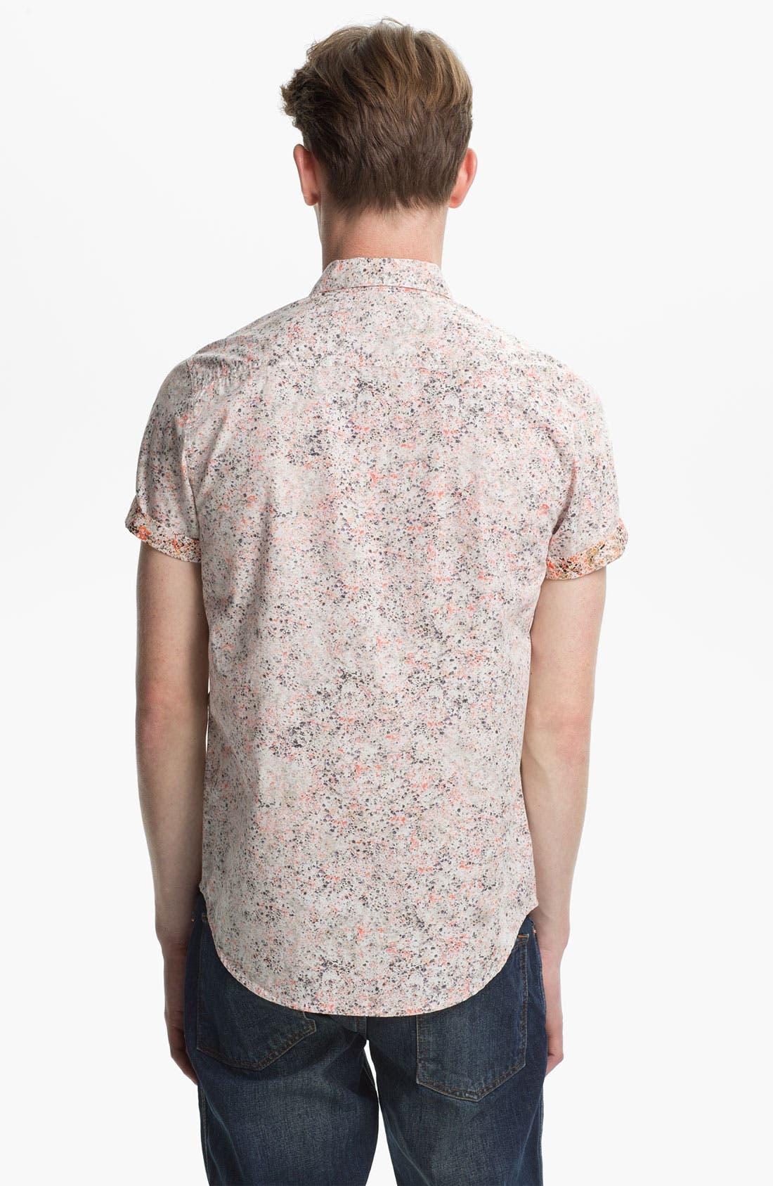 Alternate Image 2  - Topman Paint Splatter Print Shirt