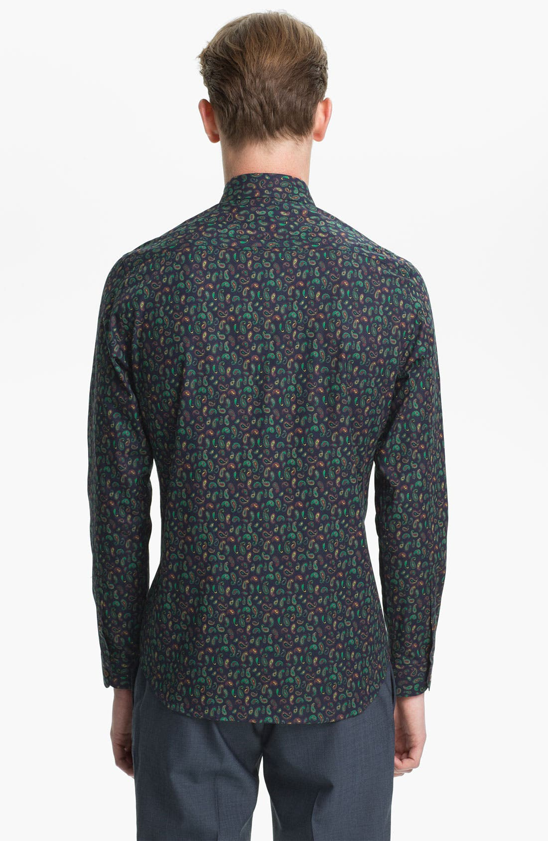 Alternate Image 2  - Topman Paisley Print Dress Shirt