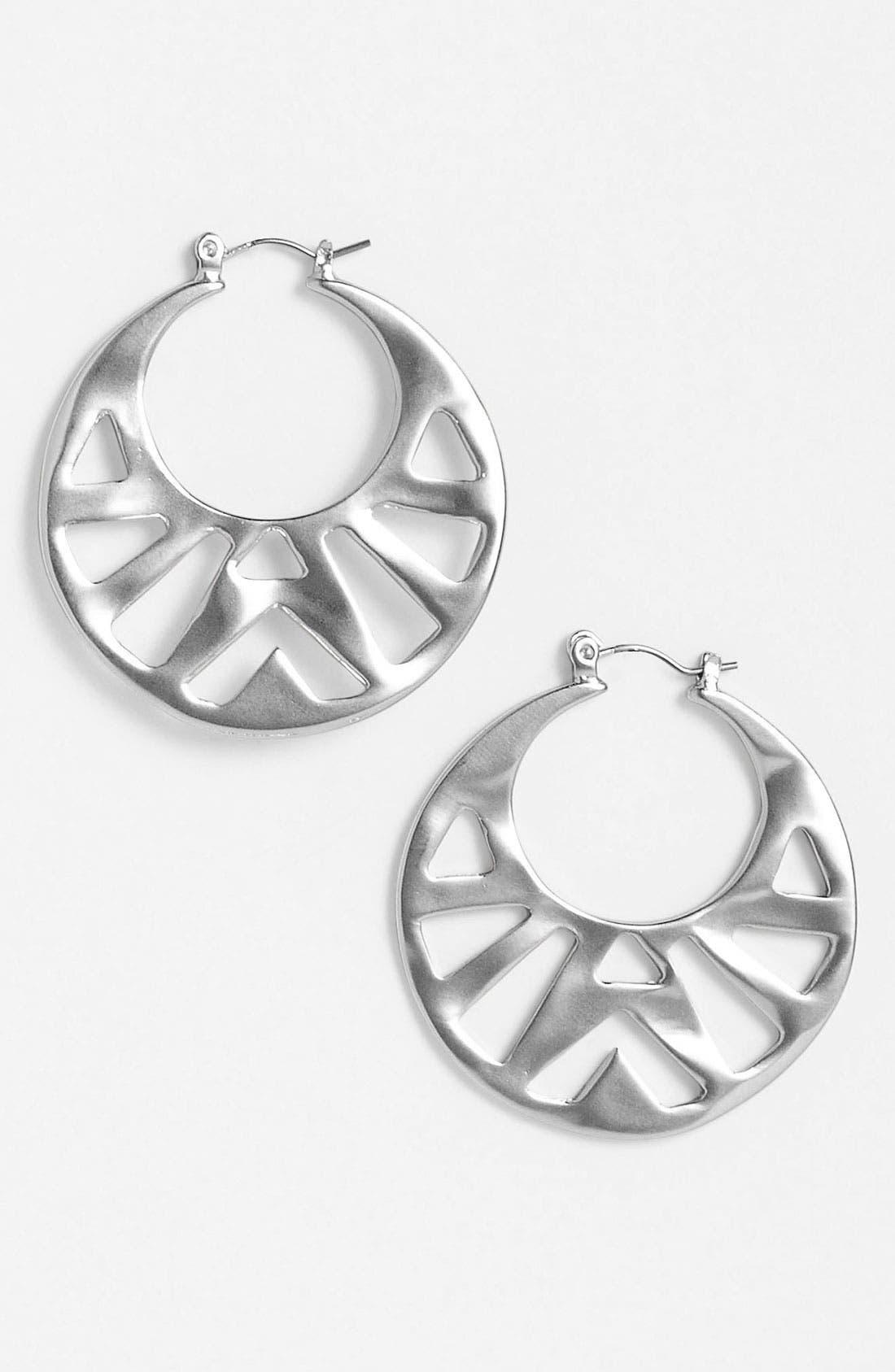 Alternate Image 1 Selected - Nordstrom Tribal Cutout Hoop Earrings