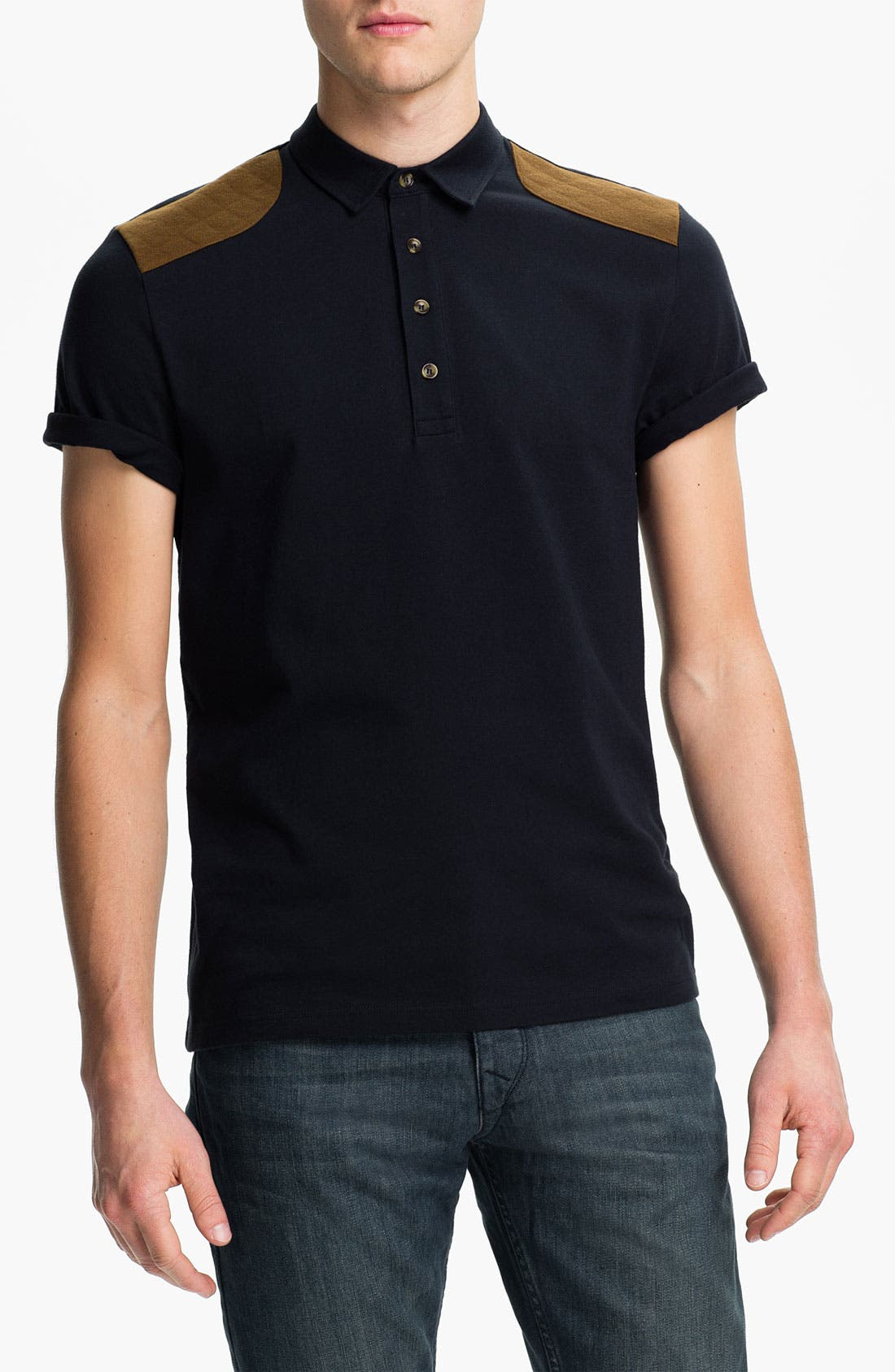 Main Image - Topman Quilted Patch Polo