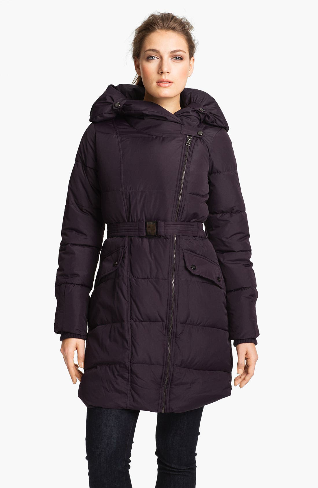 Main Image - Steve Madden Asymmetrical Quilted Coat