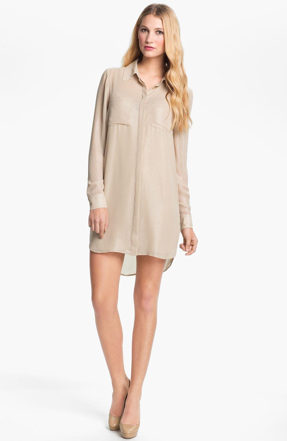 Alternate Image 1 Selected - Haute Hippie 'Sylvia' Chiffon Shirtdress