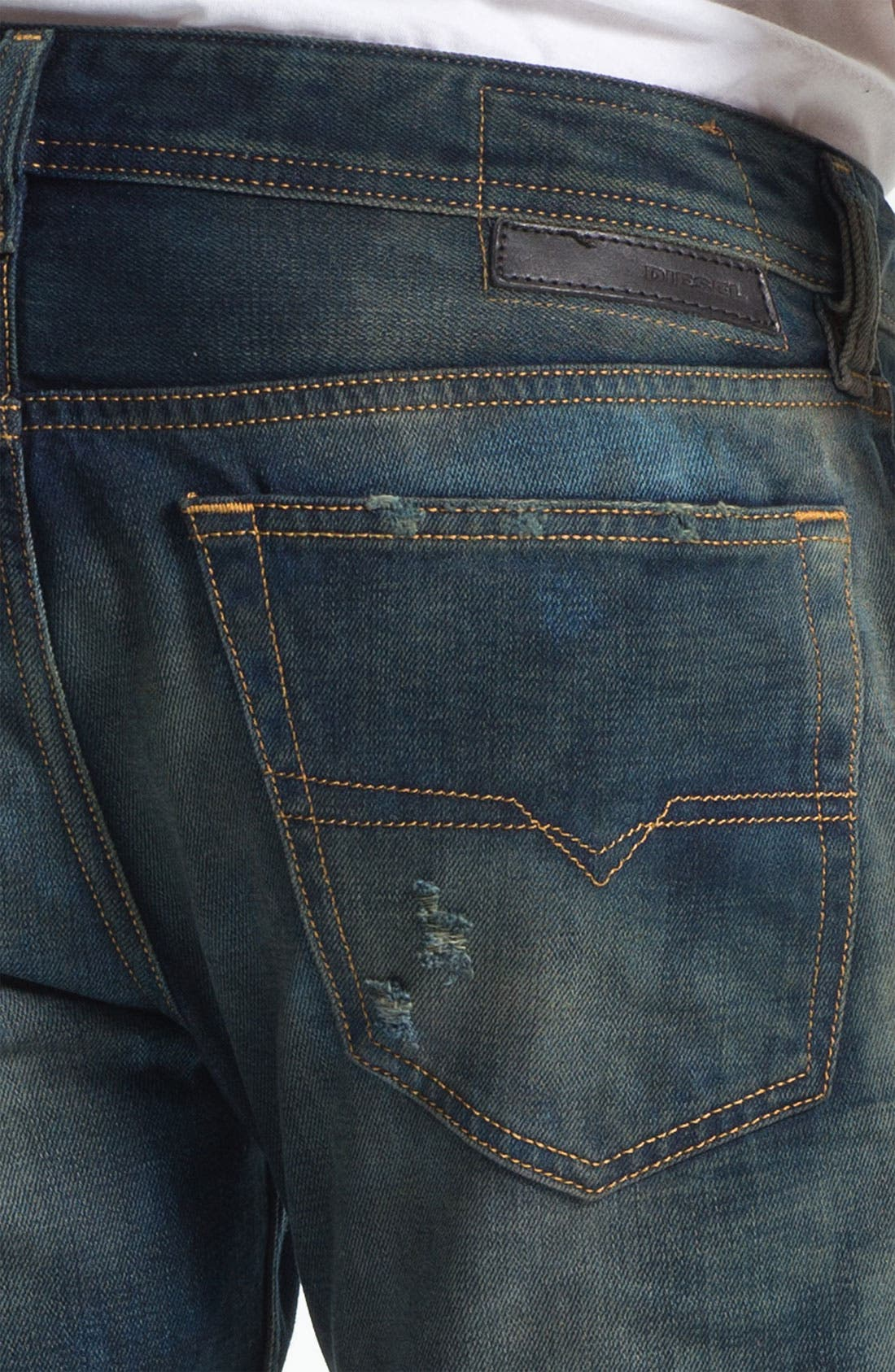 Alternate Image 4  - DIESEL® 'New Fanker' Bootcut Jeans (0075L)