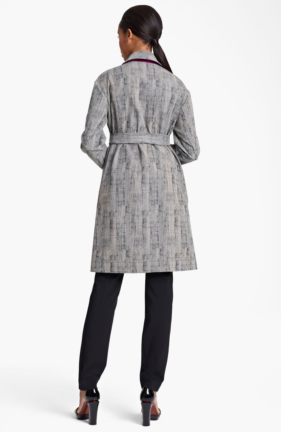 Alternate Image 2  - Lida Baday Stripe Jacquard Trench Coat