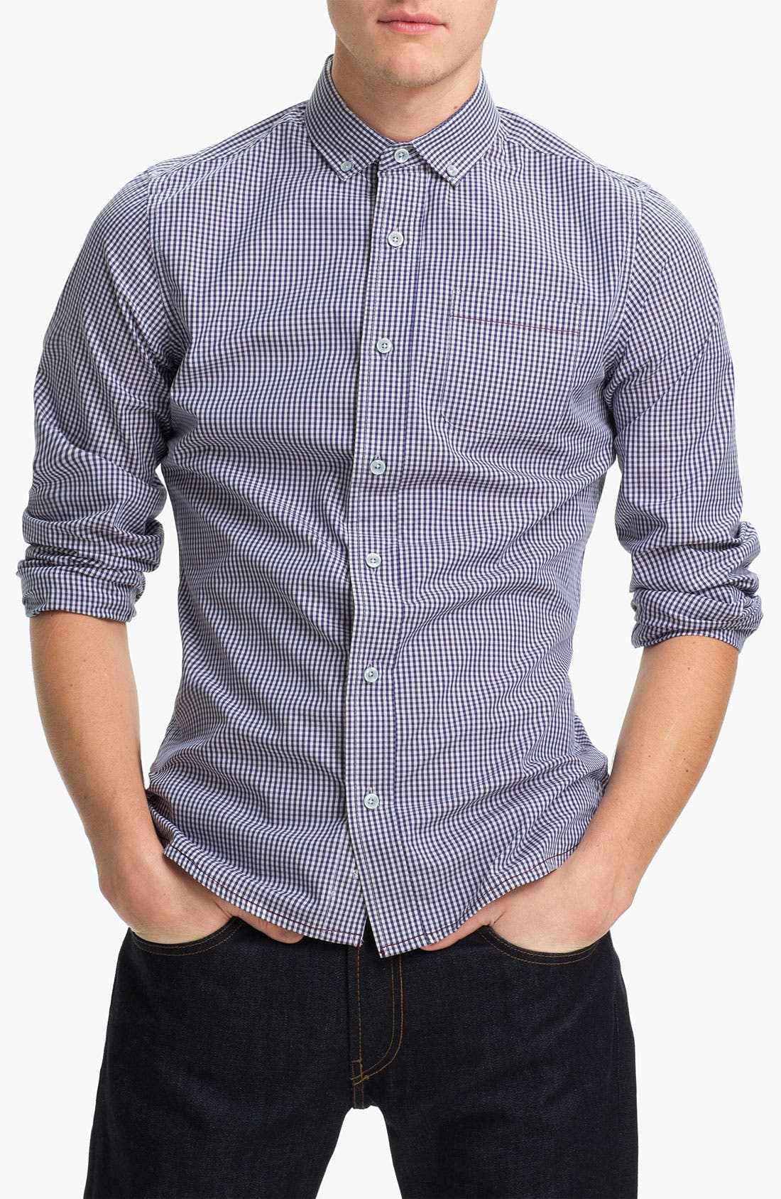 Main Image - Descendant of Thieves Gingham Woven Shirt
