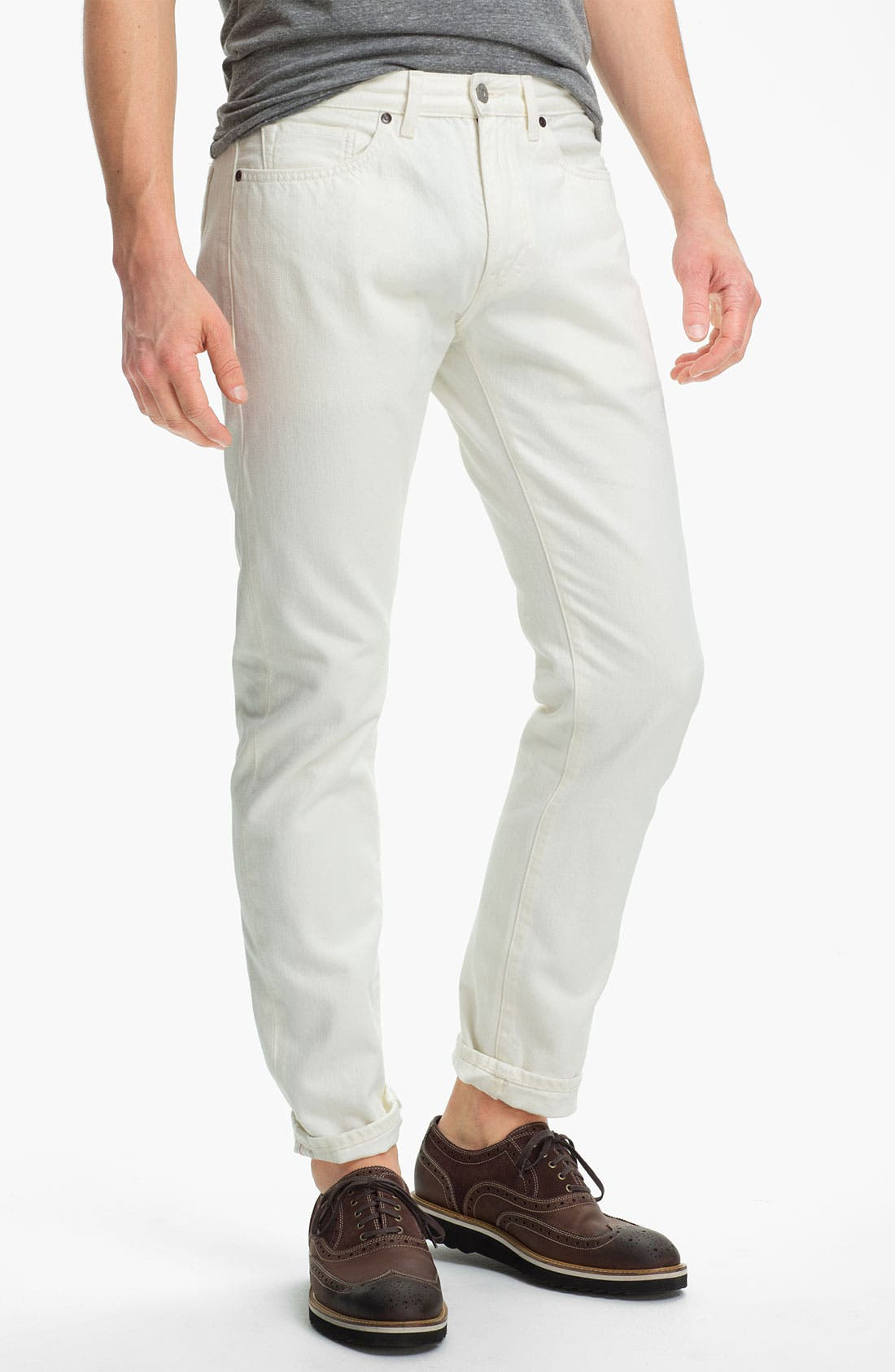 Main Image - Levi's® Made & Crafted™ Slim Fit Jeans (White)