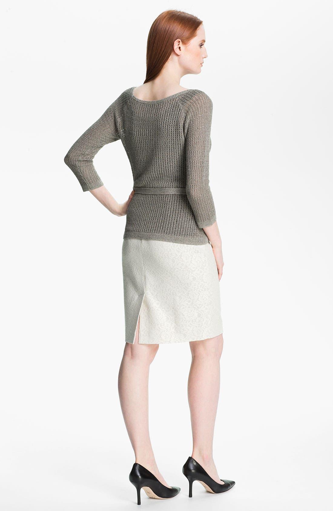 Alternate Image 5  - Classiques Entier® Bonded Lace Pencil Skirt