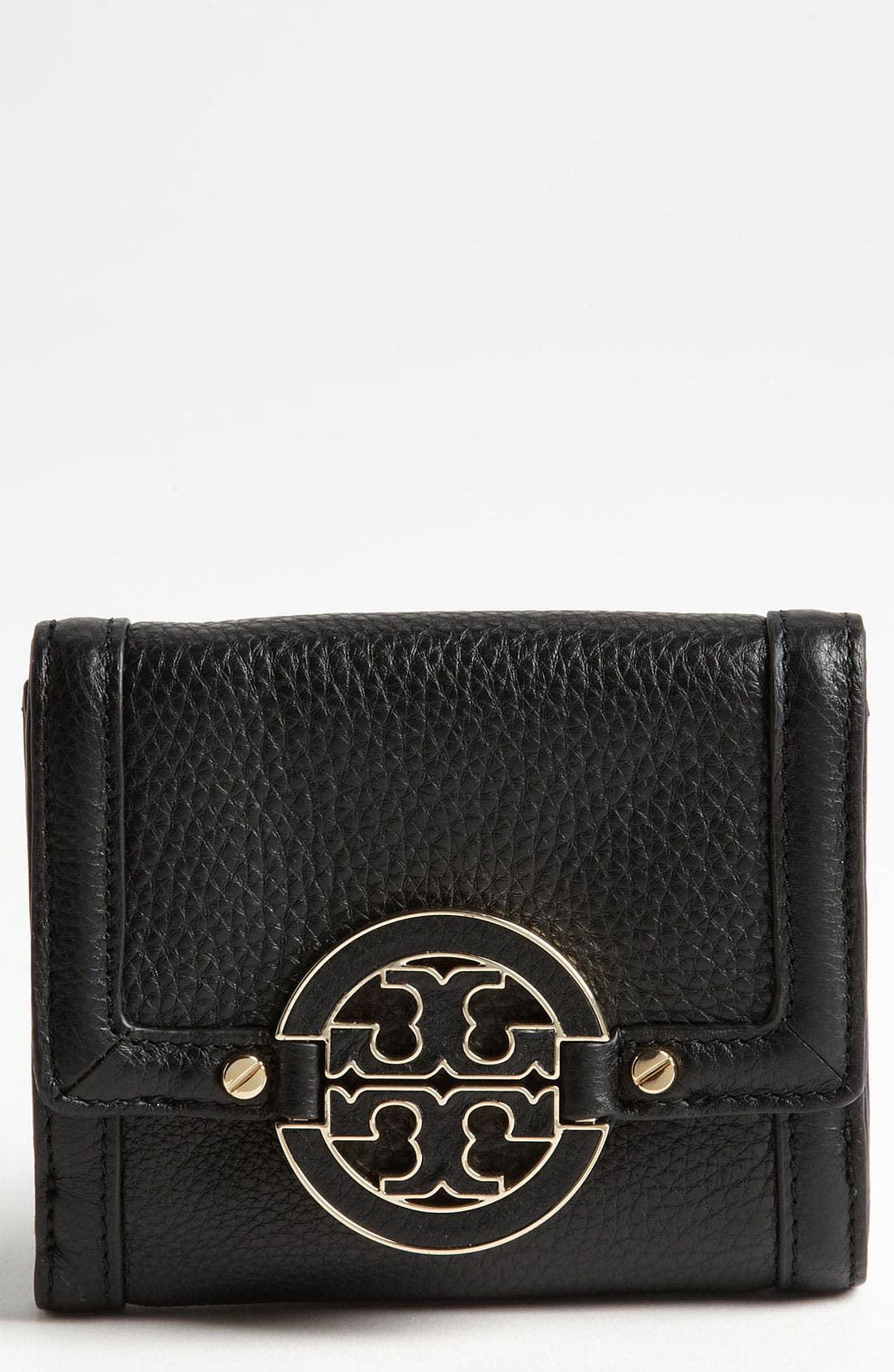 Main Image - Tory Burch 'Amanda' Double Flap French Wallet
