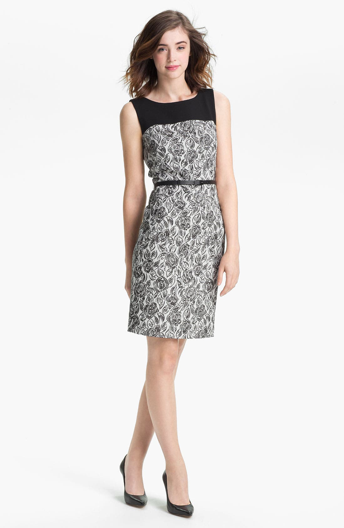 Alternate Image 1 Selected - Classiques Entier® 'Laurel' Jacquard Dress