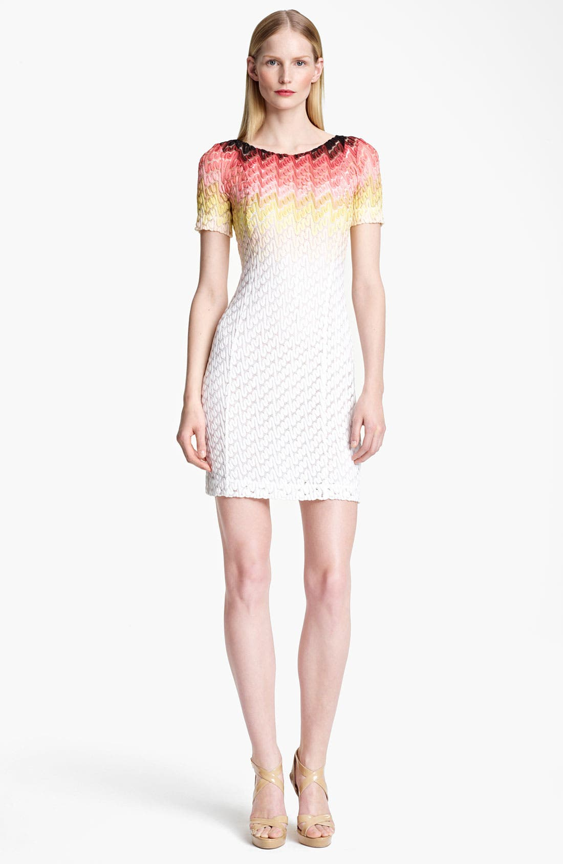 Main Image - Missoni Dégradé Lace Stitch Knit Dress