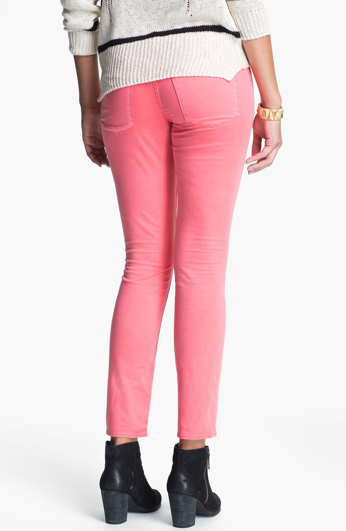Alternate Image 2  - Articles of Society 'Olivia' Skinny Jeans (Berry) (Juniors)
