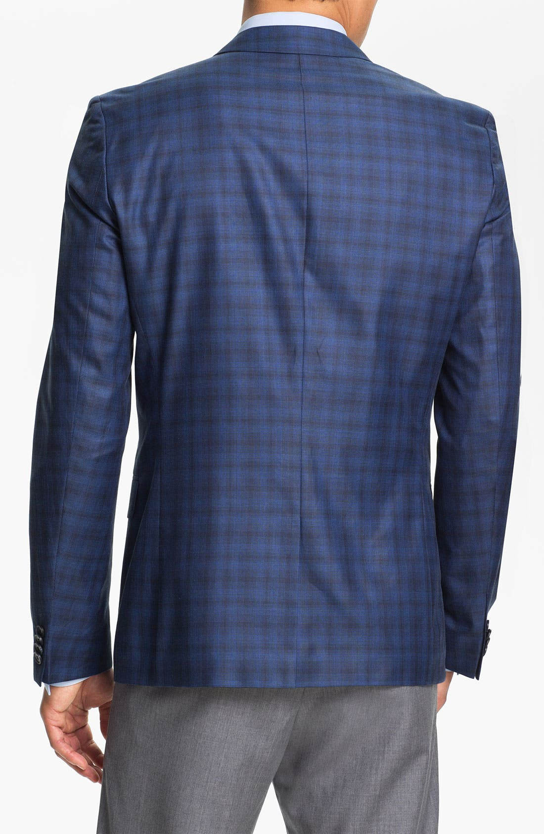 Alternate Image 2  - HUGO 'Amares' Trim Fit Plaid Sportcoat