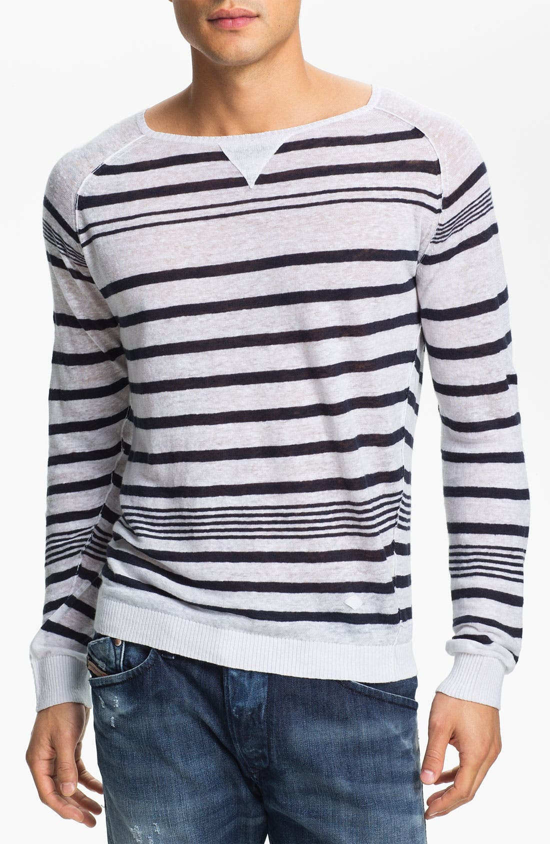 Main Image - DIESEL® 'K-Lolli' Stripe Linen Sweater